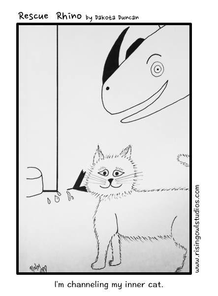 cat, comics, pet adoption, mindfulness
