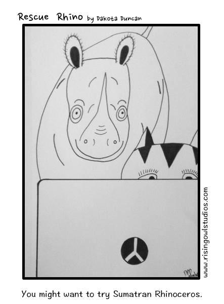 sumatran rhino, rescue rhino, pets, comics